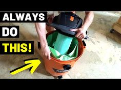 Never Use A SHOP VAC Without One Of These!! (Shop Vac Filter Bags/How HEPA Filters Work...) - YouTube Tools And Toys, Diy Tools, Hepa Filter, Home Repairs, Filters, Handy Man, Drywall, Carpenter, Business Ideas