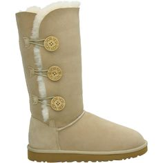 1873 Bailey Button Triplet Tall Ugg Boots Sand $136.99