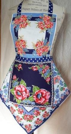 Vintage Hankie Full Apron by ZigZagity on Etsy, $28.00
