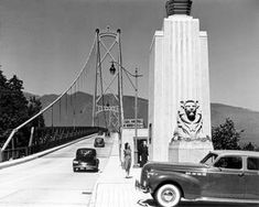 Looking North across Lions Gate Bridge Vancouver City, North Vancouver, Old Pictures, Old Photos, Vintage Photos, Lions Gate, Most Beautiful Cities, Local History, Photography
