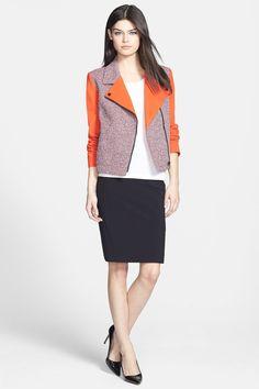 Classiques Entier(R) 'Carlotta' Tweed & Ponte Moto Jacket by Classiques Entier on @nordstrom_rack