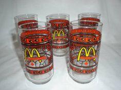 restaurant+tumblers+McDonald's | VINTAGE RETRO COCA-COLA/MCDONALDS GLASSES in Qualicum Beach, British ...