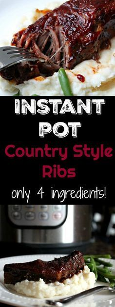 Low Unwanted Fat Cooking For Weightloss Instant Pot Country Style Ribs Only 4 Ingredients The Most Tender Country Style Ribs Ever And Made In A Fraction Of The Time Than Traditional Methods. Pressure Cooker Ribs, Instant Pot Pressure Cooker, Pressure Cooker Recipes, Pressure Cooking, Cooking Ribs, Cooking Ham, Batch Cooking, Italian Cooking, Cooking Turkey