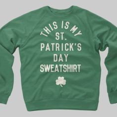 St. Patricks Day Shirt Irish Vintage Crewneck by CaliberClothingCo, $39.99