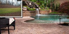 Let us help you design a beautiful backyard oasis.  (Belgard Hardscapes - Before & After gallery)