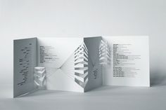 Architectural Model Festival brochure by Eszter Misztarka, via Behance
