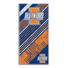 Illinois Fighting Illini NCAA Beach Towels (28in x 58in)