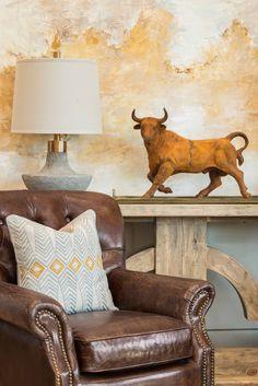 Harvest News - Harvest Furniture Vignette Design, Wingback Chair, Harvest, Accent Chairs, Interior Design, Reading Corners, Furniture, Basement, Essentials