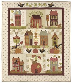 An Autumn House Quilt - from Bunny Hill Designs