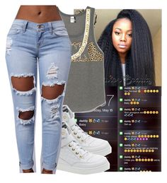 """""""Gonna Go See Bae """" by qeens ❤ liked on Polyvore featuring Victoria's Secret, Moschino and Fremada"""