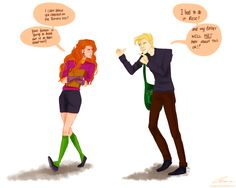 """Scorpius and Rose lol """"My father will not hear about this."""""""