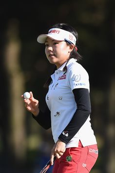 Pei-Ying Tsai Photos Photos - Pei-Ying Tsai of Taiwan reacts on the 18th green during the first round of the World Ladies Championship Salonpas Cup at the Ibaraki Golf Club on May 4, 2017 in Tsukubamirai, Japan. - World Ladies Championship Salonpas Cup - Day 1