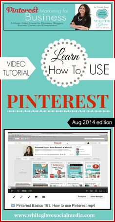 Pinterest Expert shares how to easily navigate Pinterest using the new version August 2014 CLICK HERE to watch the video tutorial http://www.whiteglovesocialmedia.com/pinterest-consultant-101-beginners-guide-how-to-easily-navigate-pinterest/ ✭ #PinterestForBusiness #PinterestCourse ✭