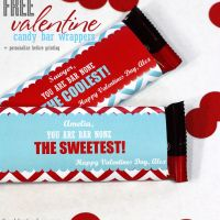 FREE Valentine candy bar wrappers