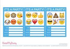 Emoji Birthday Party invitation Emojis party Pinterest Emoji