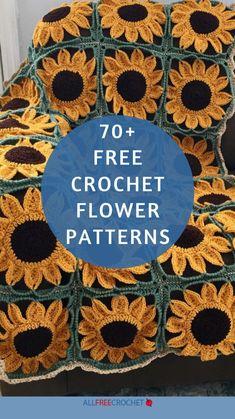 Crochet Flower Tutorial, Crochet Instructions, Crochet Flower Patterns, Crochet Stitches Patterns, Crochet Flowers, Fabric Flowers, All Free Crochet, Knit Or Crochet, Crochet Motif