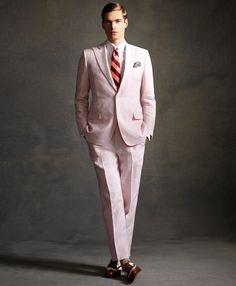 O Grande Gatsby – Brooks Brothers e Os Loucos Anos 20 The Great Gatsby, Great Gatsby Outfits, Great Gatsby Fashion, Prada, Brooks Brothers, Pink Suit Men, Estilo Gatsby, Costume Rose, Gatsby Style