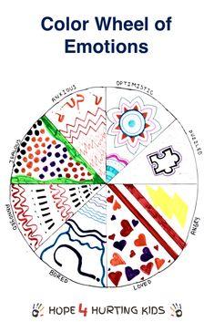 Color Wheel of Emotions via @hope4hurtkids