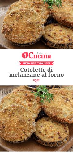 #Cotolette di #melanzane al forno University Food, Cooking Time, Cooking Recipes, Italian Cooking, Cake Tins, Antipasto, Cake Recipes, Side Dishes, Food And Drink