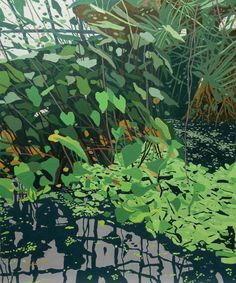"""Saatchi Online Artist: Malcolm Warrilow; Acrylic, 2012, Painting """"The Reflecting Pool"""""""