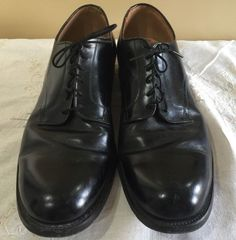 Excellent Black Vtg Hanover Goodyear 13 N Dated 1965 Military Army Oxford Shoes | eBay