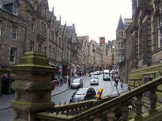 Edinburgh's old houses and shops.