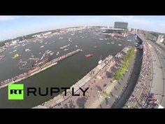 Захватывающие видео величайшего парада парусников Sail Amsterdam 2015 « FotoRelax