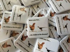 Great custom merchandise. 38mm square button pin badges with your own design.
