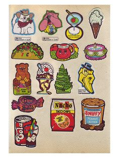 80's Vintage Scratch n' Sniff Stickers - green13 by stickerygirl