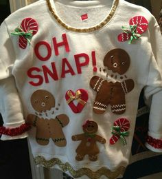 Ugly Christmas Sweater Ideas - Reasons To Skip The Housework Gingerbread Sweater: If you are attending an ugly Christmas sweater party this year, we have got you covered! Here are 25 Ugly Christmas Sweater Ideas for you to use as inspiration. Diy Ugly Christmas Sweater, Ugly Sweater Party, Xmas Sweaters, Ugly Sweaters Diy, Ugly Sweater For Kids, Ugly Sweater Funny, Couple Christmas, Christmas Fun, Christmas Outfits