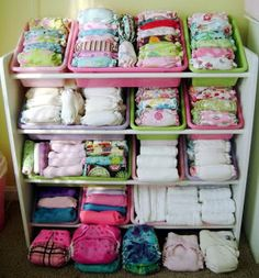 Cloth Diaper Storage - don't have this many