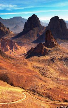 amazing landscape desert algeria