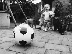 9 month old baby boy playing football Mummy & Harrison.: Life #004  | Fashion and Lifestyle blogger.