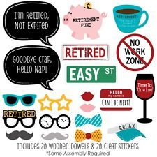 Retirement Party - 20 Piece Photo Booth Prop Kit