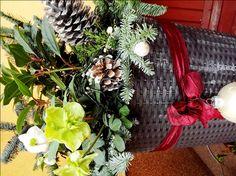 Christmas pot decoration-kültéri kaspó karácsonyi díszítés