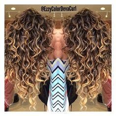 balayage highlights on naturally curly hair - - Yahoo Image Search Results Ombre Curly Hair, Colored Curly Hair, Dyed Hair, Curly Hair Styles, Natural Hair Styles, Color For Curly Hair, Curly Hair Layers, Curly Balayage Hair, Curly Perm