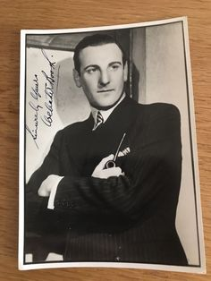 Webster Booth Signed Photo Autograph M10027 Signs, Shop Signs, Dishes