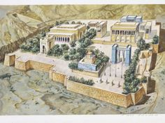 Iran, Persia, Reconstruction of Persepolis, Illustration Photographic Print