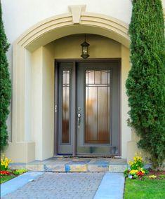 ProVia - Legacy Carmen - Gray Mid-Century Modern Steel Front Entry Door