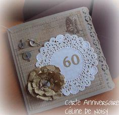 scrapbooking carte anniversaire femme 60 ans