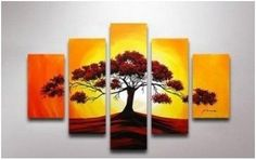 100% Hand Painted Modern Abstract Oil Painting on Canvas ...