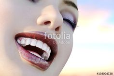 "Download the royalty-free photo ""Illustration of dental care. Perfect teeth. Close-up of beautiful and healthy woman smile. 3d render."" created by sebos at the lowest price on Fotolia.com. Browse our cheap image bank online to find the perfect stock photo for your marketing projects!"