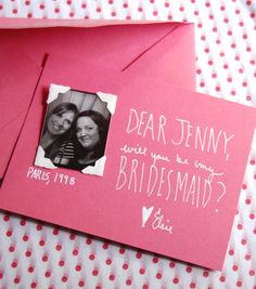 creative ways to ask bridesmaids to be in wedding - Google Search