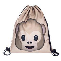 Deanfun Emoji Backpack 2016 New Fashion Women Backpacks 3D Printing Bags  Drawstring Bag For Men skd76 e29faee528