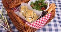 Fancy a picnic? This Zucchini, Corn and Feta Slice is the perfect basket filler! Lunch Recipes, Breakfast Recipes, Cooking Recipes, Vegetarian Cooking, Vegetarian Recipes, Savoury Slice, Good Food, Yummy Food, Some Recipe