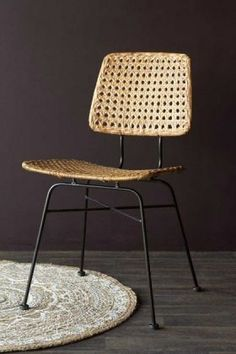 Leather, Fabric and Wooden Dining Chairs | Rockett St George Rattan Bar Stools, Rattan Dining Chairs, Black Dining Chairs, Metal Chairs, Dining Room Furniture, Bali Furniture, Room Chairs, Dining Rooms, Kitchen Dining