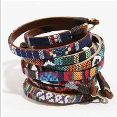 Bracelet leather and incas