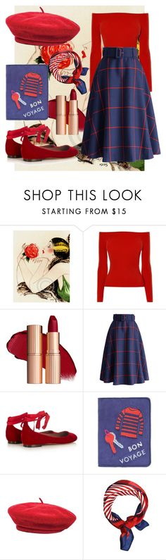"""Bon voyage"" by banshee-s-blog ❤ liked on Polyvore featuring Karen Millen, Chicwish, Tabitha Simmons, Lizzie Fortunato Jewels, Brixton, vintage, paris, retro, bonvoyage and francais"