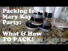 INCREDIBLY SIMPLE!!  Packing for a Mary Kay party!