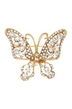 Crystal Butterfly Pin